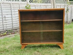 vintage Mid Century Modern Herbert E Gibbs autogtaphed Display Cabinet Bookcase