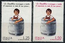 ITALIA 1971 SG # 1295-6 postali CASSA DI RISPARMIO MNH Set #A 99869