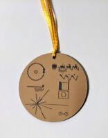 NASA Voyager Golden Record Christmas tree ornament, laser engraved