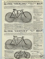 1906 PAPER AD 1906 Sterling Bicycle Century Model Built Like A Watch