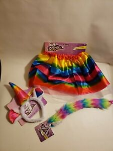 Halloween Costume Unicorn #3 Pieces Rainbow Skirt Horn and Tail 3+ Years NWT