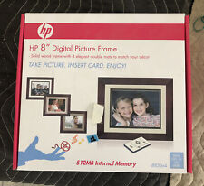 "HP DF820 8"" Digital Picture Frame 512 MB Internal Memory Sealed!"