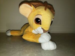 VINTAGE DISNEY SIMBA LION KING MATTEL ARCO YARN Meme STUFFED ANIMAL PLUSH Floppy