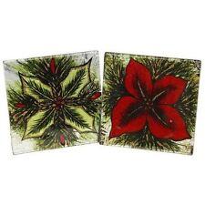 Glass Christmas Square Coasters