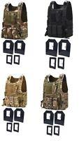 Tactical Scorpion Gear 4 Pc Level III+ / AR500 Body Armor Plates Bearcat Vest