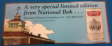"""1987 National Bohemian Beer """"Old Hilltop"""" 11""""x27"""" promotional poster"""