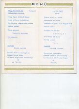 Speisekarte Grand Hotel Royal Budapest Silvester Menü 1967 ungarisch französisch