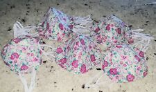 FACE MASKS*MADE IN USA*Pink &Red Flowers*Washable* Reversible*FAST FREE SHIPPING
