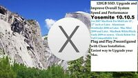 SSD Drive for MacBook 2008 and Later. FAST 120GB, Loaded w/ Yosemite 10.10 A1286