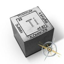 Elemental Cube 5 ounces 999 Fine Titanium. The cube isnt silver 5oz