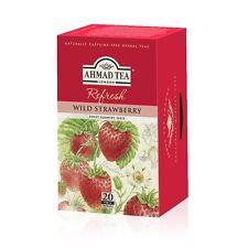 Ahmad Tea Herbal Tea Wild Strawberry 6 box of  20 ct TB, Item #011  NEW