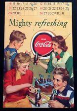 *Original* COCA COLA 1952 CALENDAR PAGE September October ARCHERY Bullseye Arrow