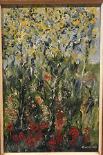 Vintage Beautiful flowers Oil panting by Gifkins