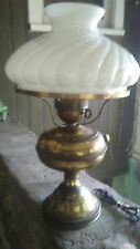 Vintage Brass Electric Converted Oil Lamp