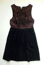 Anthropologie EUC Open-Air Theater Dress by LeifNotes - Brown Motif - SZ 6