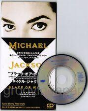 "MICHAEL JACKSON Black Or White JAPAN 3"" CD ESDA7083 KIRARA BASSO Unsnapped FreeS"