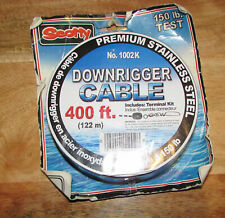 Scotty Fishing 1002 Premium Ss Replacement Downrigger Cable 400 Ft Spool