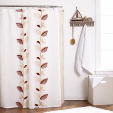 """70"""" x 72"""" Bathroom Shower Curtain Popular Bath Alysia Ivory Leaf Collection"""