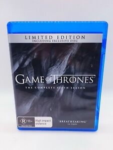 Game Of Thrones Complete Season 5 Blu-Ray 5-Discs  FAST, FREE, LOCAL