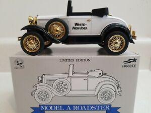 1929 Model A Roadster White New Idea Die Cast Bank Louisville Farm Show 1-1500