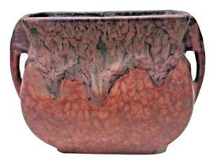 Vintage Roseville Red Carnelian Vase