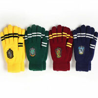 1pair Harry Potter Touch Gloves Gryffindor Slytherin Hufflepuff Ravenclaw Gloves