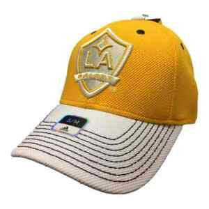Los Angeles Galaxy Adidas FitMax 70 Yellow Structured Fitted Baseball Hat (S/M)