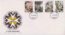 UNADDRESSED GB ROYAL MAIL FDC 1987 ST JOHN AMBULANCE STAMP SET TONBRIDGE PMK