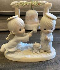 Vintage Precious Moments 1992 Ring Those Christmas Bells Figurine - 525898