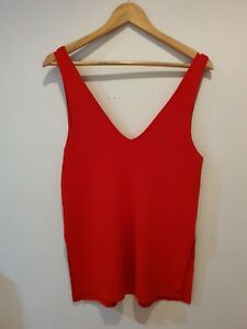 Witchery size M Milano Knit Red Singlet Tank Top