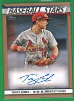2020 Topps Series 2 Baseball Stars Gold #BSA-TE TOMMY EDMAN AUTO Cardinals 31/50