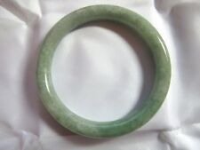 "60.5mm NATURAL Green Jade Chinese Bangle Bracelet 2-3/8"" #A131"