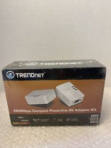 TRENDnet 500Mbps Compact Powerline AV Adapter Kit TPL-406E2K/A - NEW SEALED