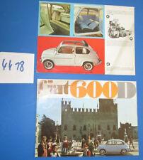 N°4418 /  FIAT 600 D prospectus en français