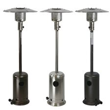 btu standing propane patio heater stainless steel bronze mocha lp gas
