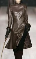 New Women's Genuine soft Lambskin Leather Designer party wear Ladies Dress   20