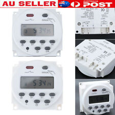 12V/220V Digital LCD Display Power Timer 7 Days Programmable Time Relay Switch