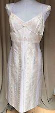 Sandra Paez NEW 100% SILK lavender Indian paisley tapestry dress L