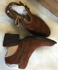 Born Margrit Women Shoes Brown Slingback Suede Ankle Booties Sz 6 $135
