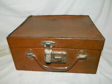 Vintage cosmetic train travel case box valet