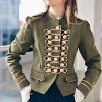 Women's Cardigan Jacket Overcoat Outwear Double Breasted Blazer Suit Coat Top N