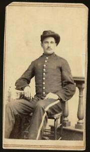 Civil War CDV Union Artillery Sargent Id'd on verso