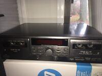 JVC TD-W209 Stereo Double Cassette Deck Player Recorder Auto Reverse HX PRO B-C