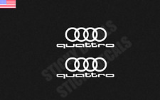 Audi Quattro Rings 2X Decal Sticker Graphic Fits Car/Truck/SUV