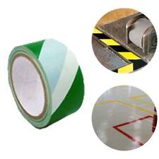 59 Feet Warning Tape Warehouse Floor Safety Barrier Waterproof PVC Green White