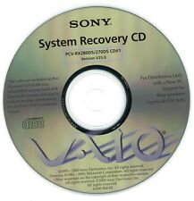 Sony VAIO Recovery Discs PCV-RX270DS / PCV-RX280DS CD