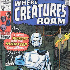 Where Creatures Roam 2 — Sept 1970 — Marvel Comics Ditko Giant Floating Head!