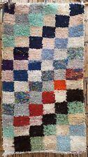 Moroccan boucherouite rug 127 x 70 cm