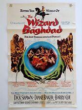 WIZARD OF BAGHDAD (Fair) Orig Movie Poster 1960 One Sheet Arabian fantasy 2344