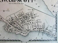 Swampscott on ocean Essex County Mass. 1872 detailed old map